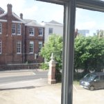 room 116 - first floor, looking on to magdalen st and hotel's car parking area