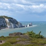 The Needles on a very windy day.