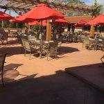 Pomodoro Grill - back patio area