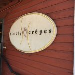 Simply Crepes Cafe - sign outside