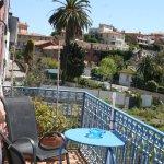Balcon privé suite luxe vue mer