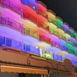 This is the Hotel Alicia at night!