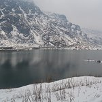 Holy Tsomgo lake in the month of April
