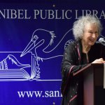 Margaret Atwood, photo by Danny Hussey. January 2017 Author Series at Sanibel Public Library