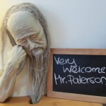 Quirky personalised welcome in the 'well' room