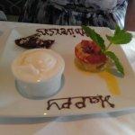 complimentary anniversary dessert