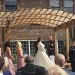 wedding at Kensington hotel courtyard