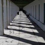 Walkway outside rooms