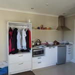 open wardrobe in kitchen area!