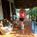 Two rooms per cabana. Each had a hammock.