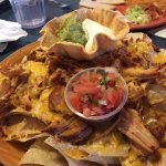 Nachos especiales with sweet pork