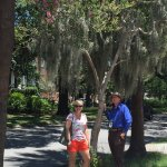 Daughter Melissa with our tour guide, Orlando.
