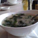A fantasztikusan krémes tofuval készült Miso leves.