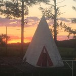 Wigwams at sundown