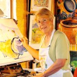 Roberta Rogers teaches watercolor painting workshops at TCA.