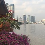 View of Bangkok from riverside terrace