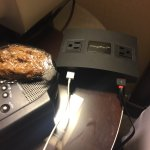 USB hub & oatmeal cookie from lounge (yum)