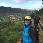 Levada walk with Machico in the background