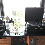 Record player and coffee machine