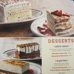 Desserts were large