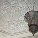 Ceiling in the Azrak/blue room