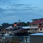 """View across Shem Creek to see """"Reds"""" & other restaurants"""