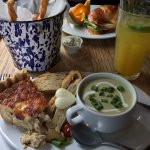 Quiche and Chilled Avocado Soup
