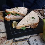 Crab sandwich from the specials