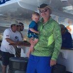Papa and grandson enjoying the trip!