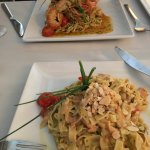 Seafood and salmon pasta