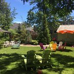 Our garden retreat!  Lots of shade and a fish pond too!