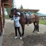 Horseback riding at Myra Canyon Ranch
