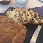 amazing home made olive bread baked by host