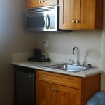 The small kitchenette in the junior suite
