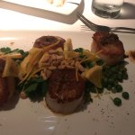 Flavorful and artfully presented Day Boat Scallops