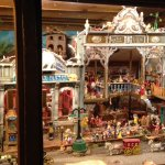 One of the many toy villages on display.
