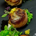 Grilled Canadian diver scallops