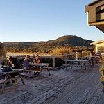 deck adjacent to bar/resturant