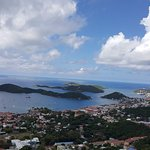 stunning view from Charlotte Amalie