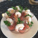 Shrimp cocktail for a reception