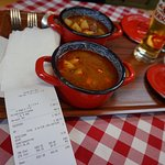 Bill for two goulash and one beer