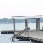 Pier area for swimming or laying out