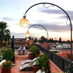 The most stunning rooftop and views over Marrakech.