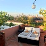 The best place to be at the end (or beginning!) of the day. Riad l'Orangeraie's rooftop.