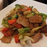 Stir fry noodles with pork