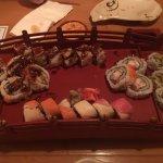 Edamame and sushi