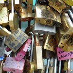 'Love' locks on the Pont Neuf