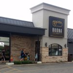 front of & entrance to Buona Beef