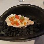 Salmon tatare in lime pannacotta