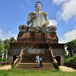 Large Buddha statue at the main entrance